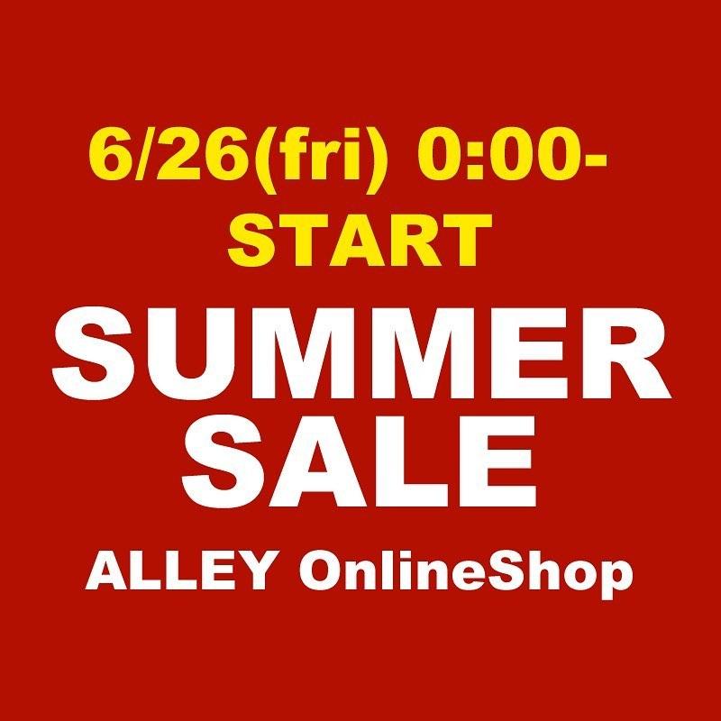 あとおよそ3時間後から、ALLEY SUMMER SALE !! ・・6月26日(金)午前0時より、サマーセールがスタート致します。 ・・対象外商品・ブランド、後日スタートのブランドがございますので、予めご了承下さい。 ・・後日スタート決定ブランド:LAD MUSICIAN 7/4 0:00- ・・ラッドミュージシャンも対象外商品あります。 ・・0時からスタートとなる対象商品は、0時からSALE価格になります。ALLEY Onlinshop ・・#undercover#ladmusician#mastermindjapan#whitemountaineering#sulvam#stampd#markandlona#roughandswell#windandsea#naissance#solido#footthecoacher#alleycompany#alleyonlineshop #アンダーカバー#ラッドミュージシャン#マスターマインドジャパン#ホワイトマウンテニアリング#サルバム#スタンプド#マークアンドロナ#ラフアンドスウェル#ウィンダンシー#ネサーンス#ソリード#フットザコーチャー#サマーセール#summersale