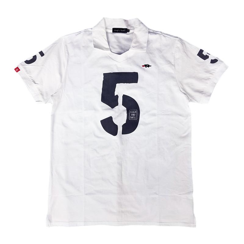 rough&swell ラフアンドスウェル No.5 SK スキッパー ポロシャツ ホワイト RSM-20033 / ゴルフウェア