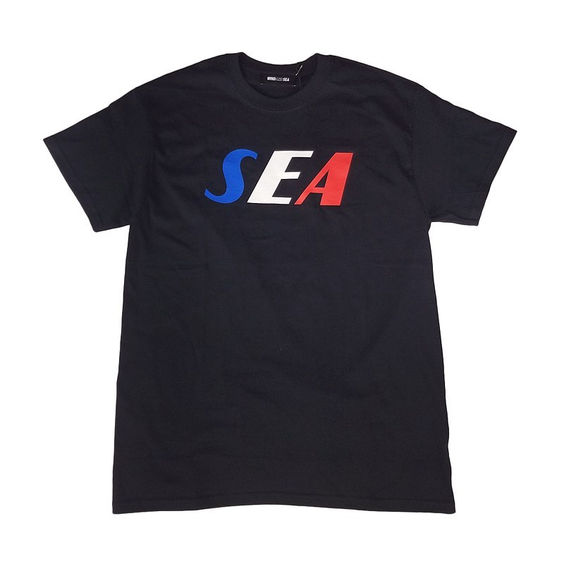 "WIND AND SEA ウィンダンシー SEA ""TRICOLOR"" TEE Tシャツ ブラック(BL-WH-RD) WDS-20S2-CS-05"