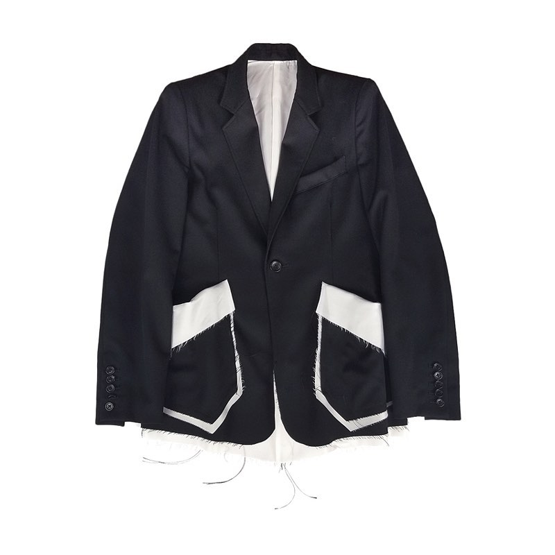 sulvam サルバム Gabardine classic shortjacket クラシックジャケット ブラック SM-J50-100