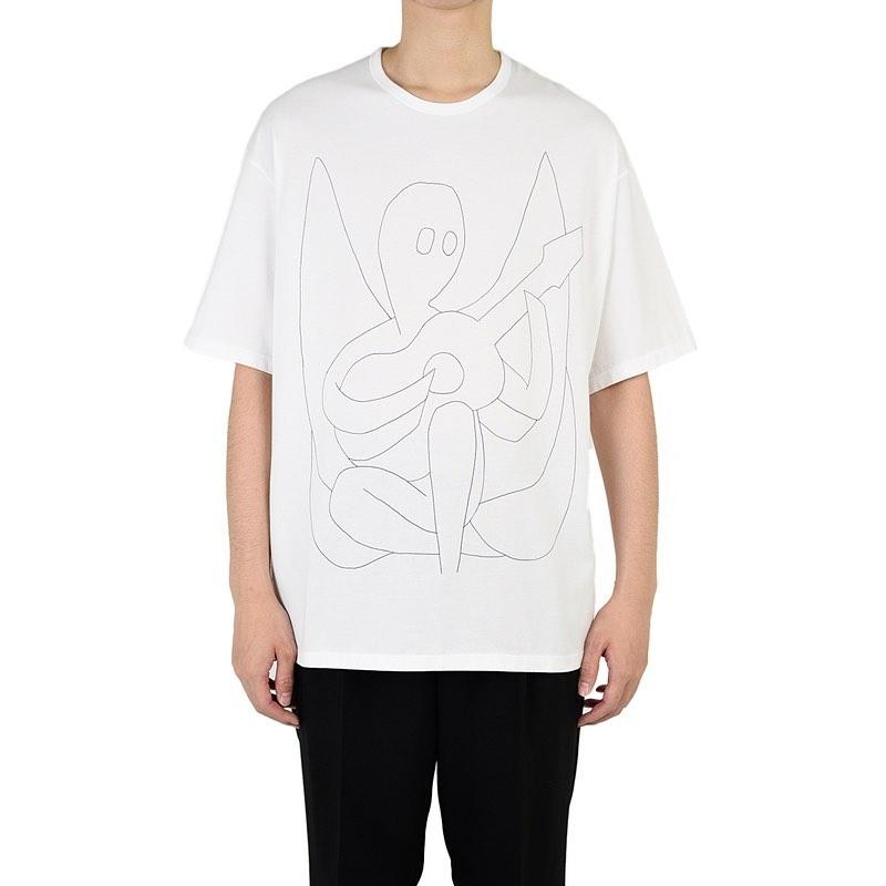 LAD MUSICIAN ラッドミュージシャン BIG T-SHIRT ビッグTシャツ ホワイト 2220-801