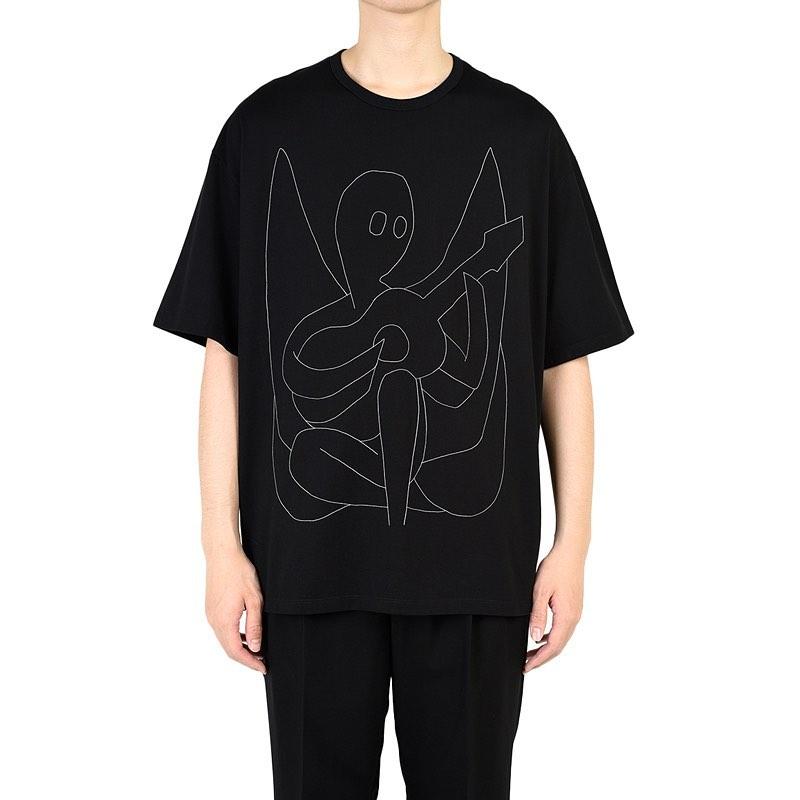 LAD MUSICIAN ラッドミュージシャン BIG T-SHIRT ビッグTシャツ ブラック 2220-801