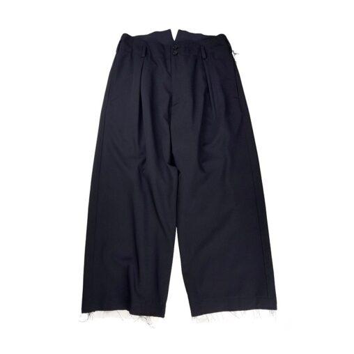 sulvam サルバム Gabardine classic pants クラシックパンツ ブラック SM-P50-100