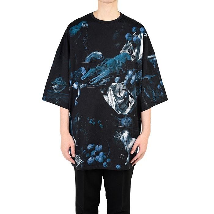 LAD MUSICIAN ラッドミュージシャン SUPER BIG T-SHIRT スーパービッグTシャツ ネイビー 2220-711