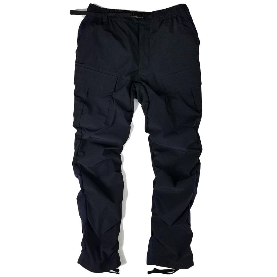 White Mountaineering ホワイトマウンテニアリング STRETCHED SHIRRING CARGO PANTS ストレッチシャーリングカーゴパンツ ブラック WM2071412 / パンツ