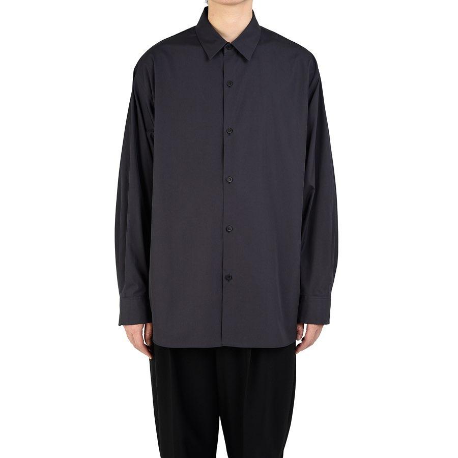 LAD MUSICIAN ラッドミュージシャン BIG SHIRT ビッグシャツ パープルブラック 2220-103