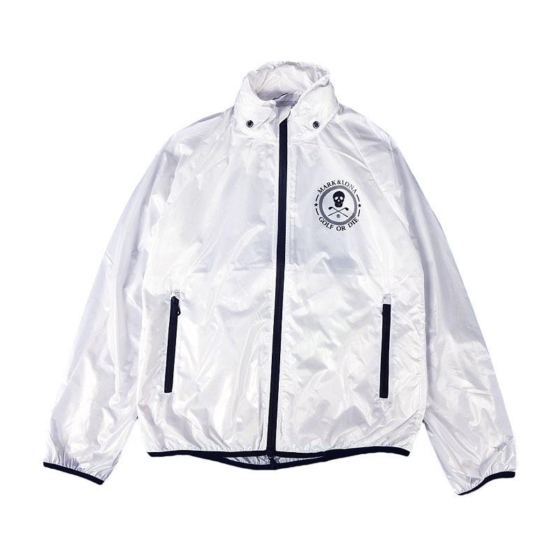 【木村拓哉さん着用モデル】MARK&LONA マークアンドロナ Session Zip Jacket MEN スタンドブルゾン ホワイト MLM-0C-AD01