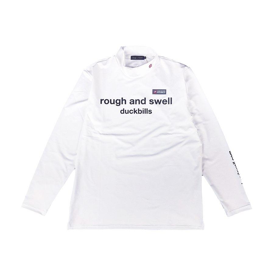 rough&swell ラフアンドスウェル R.S.MOCK L.S. モックネック長袖カットソー ホワイト RSM-20219
