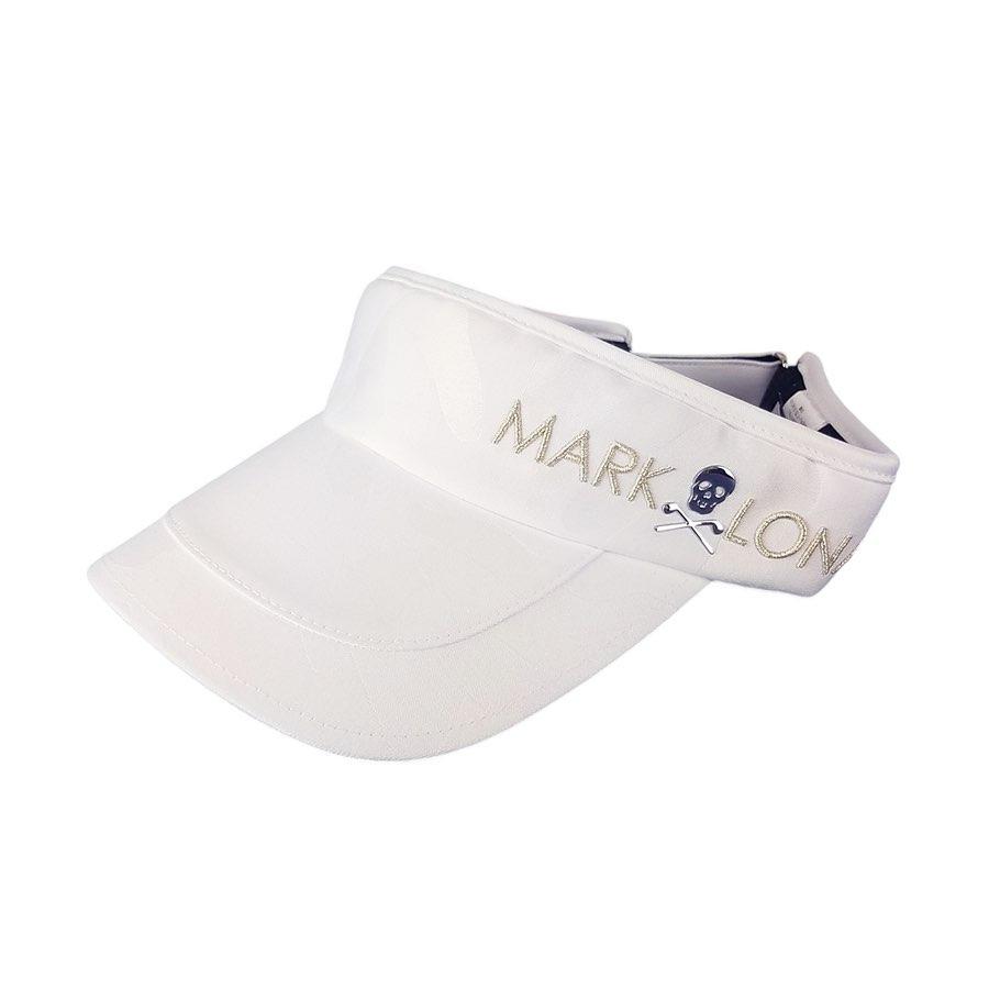 【木村拓哉さん着用モデル】MARK&LONA マークアンドロナ Gage visor | MEN and WOMEN サンバイザー ホワイト MLF-0C-FC05