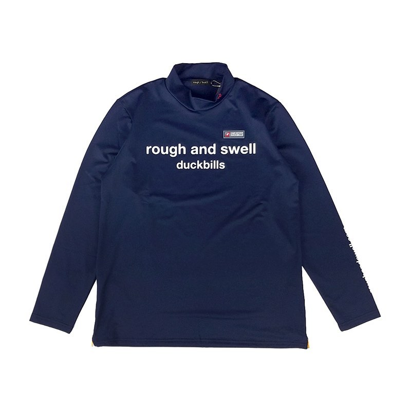 rough&swell ラフアンドスウェル R.S.MOCK L.S. モックネック長袖カットソー ネイビー RSM-20219