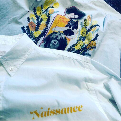 NAISSANCE ネサーンス ILLUSTRATION SHIRT A by Jody Asano イラストシャツ 21A-NSA-SH-02