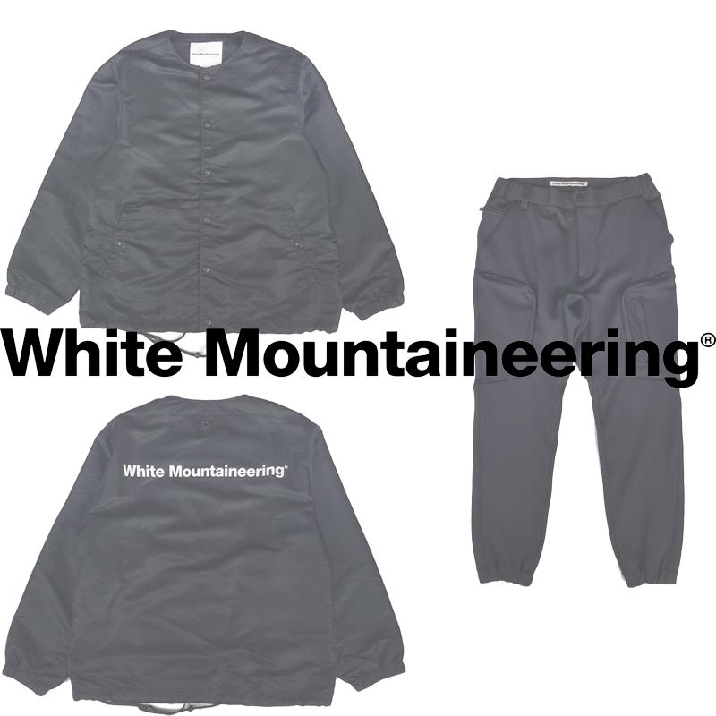 White Mountaineering/ホワイトマウンテニアリング 20AW新作ノーカラーコーチジャケット&ジャージカーゴパンツ