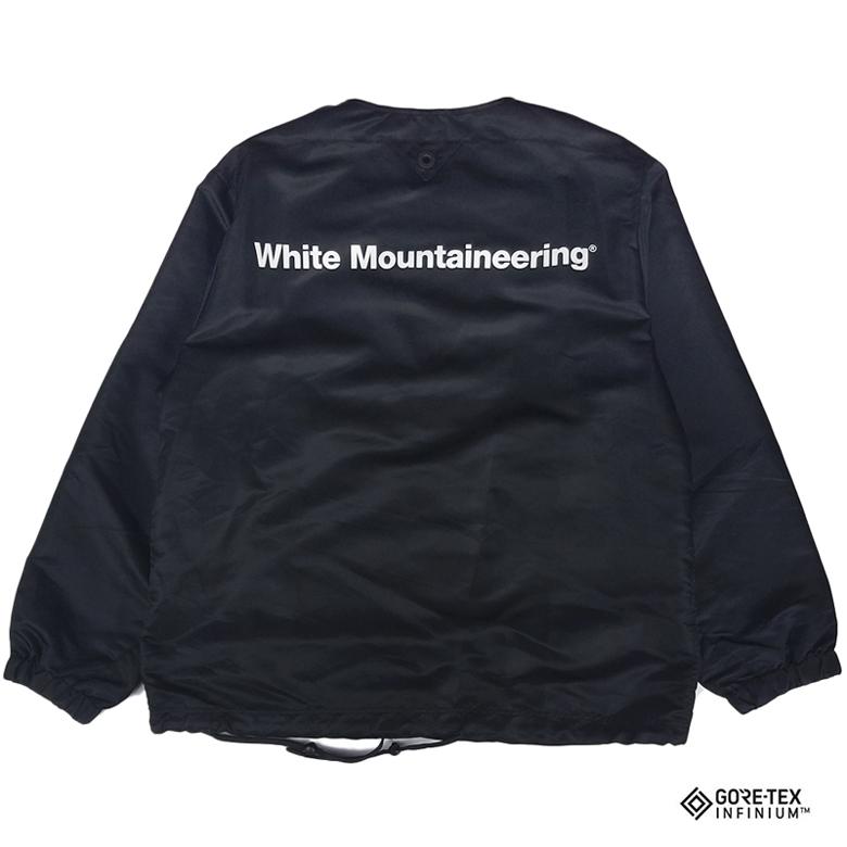 White Mountaineering ホワイトマウンテニアリング GORE-TEX INFINIUM NO COLLAR COACH JK ノーカラー コーチジャケット ブラック WM2073202 / ブルゾン-2