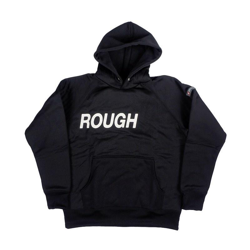 rough&swell ラフアンドスウェル BIG LOGO HOODIE プルオーバーパーカー ブラック RSM-20205