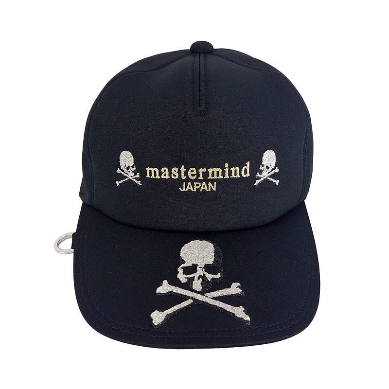mastermind JAPAN マスターマインドジャパン キャップ ポリエステルジャージ 刺繍 ブラック MJ20E05-CA007-608