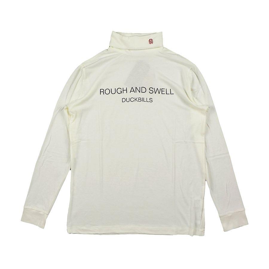 rough&swell ラフアンドスウェル WARM TURTLE タートルネック ホワイト RSM-20222 / ゴルフウェア ラフ&スウェル