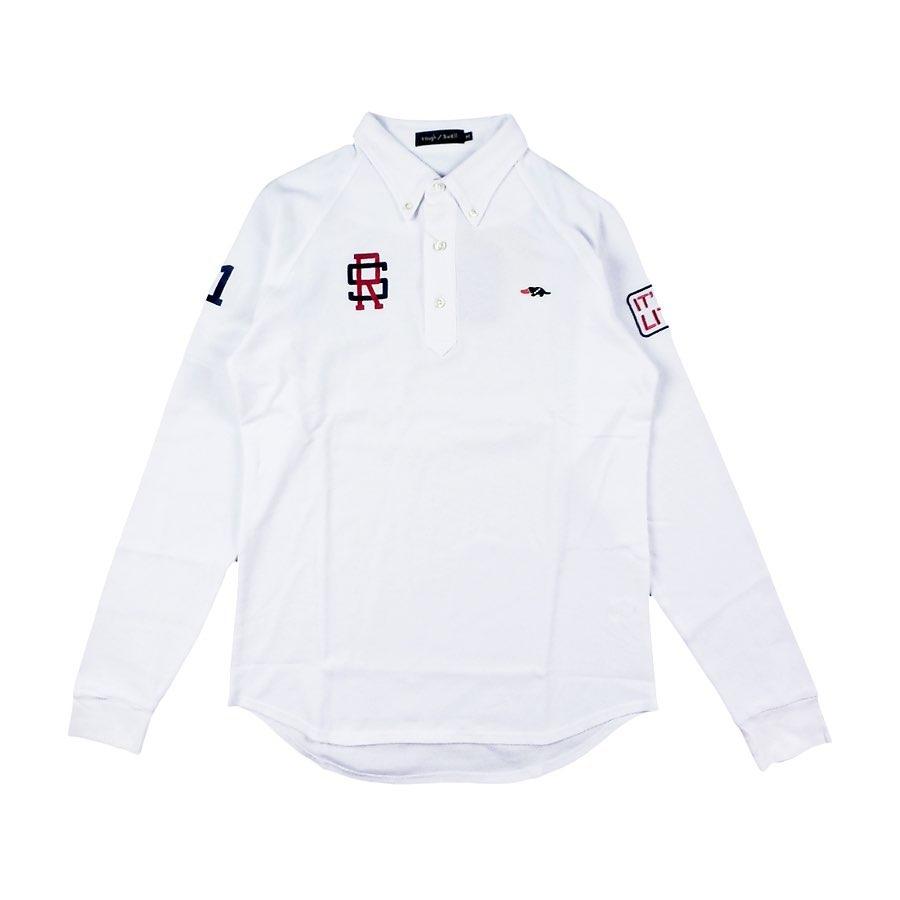 rough&swell ラフアンドスウェル BASIC TOUR L.S. 長袖ポロシャツ ホワイト RSM-20210