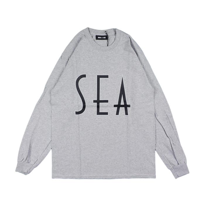 WIND AND SEA ウィンダンシー SEA (wavy) L/S T-SHIRT ロングスリーブTシャツ グレー WDS-20A-TPS-06