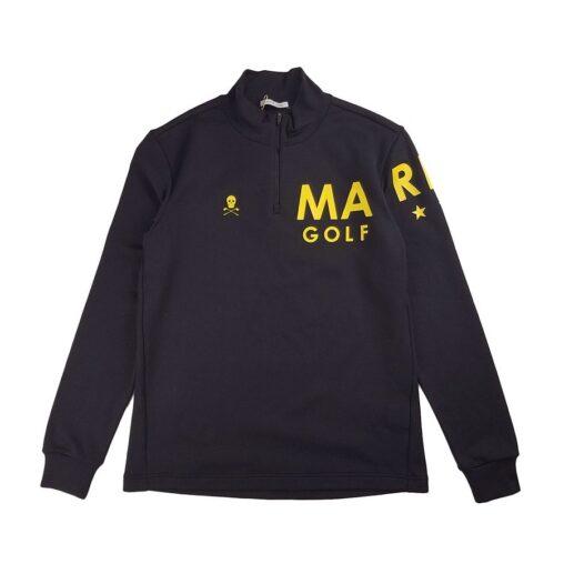 MARK&LONA マークアンドロナ ハーフジップ トップス ブラック MLM-0C-AU04