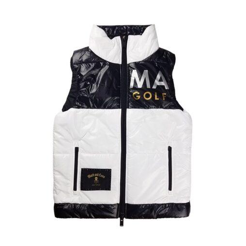 【木村拓哉さん着用モデル】MARK&LONA マークアンドロナ Hype Block Puffy Vest | MEN 中綿ベスト ホワイト MLM-0C-AD05