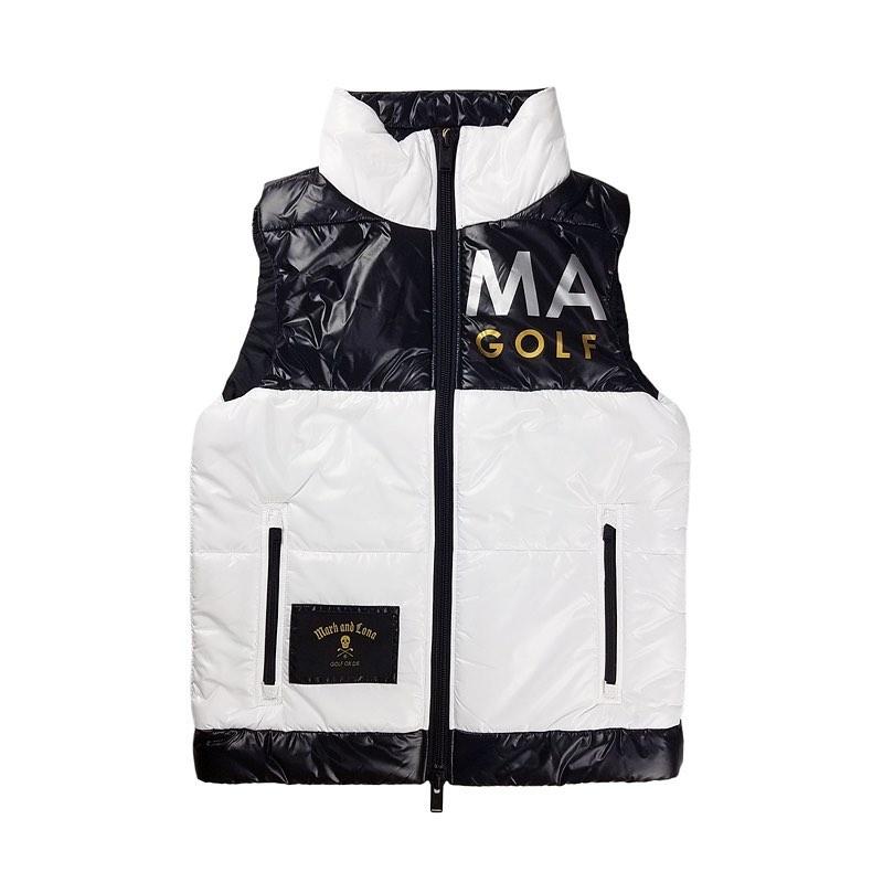 【木村拓哉さん着用モデル】MARK&LONA マークアンドロナ Hype Block Puffy Vest   MEN 中綿ベスト ホワイト MLM-0C-AD05