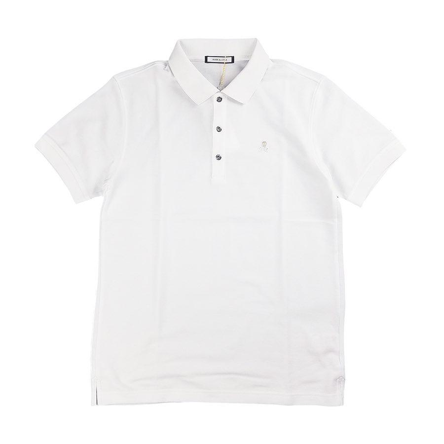MARK&LONA マークアンドロナ Ace Polo MEN ポロシャツ ホワイト MLM-0C-AP01