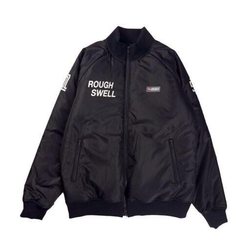 rough&swell ラフアンドスウェル CHIC LOGO DENVER ブルゾン ブラック RSM-20245 / ゴルフウェア メンズ ラフ&スウェル