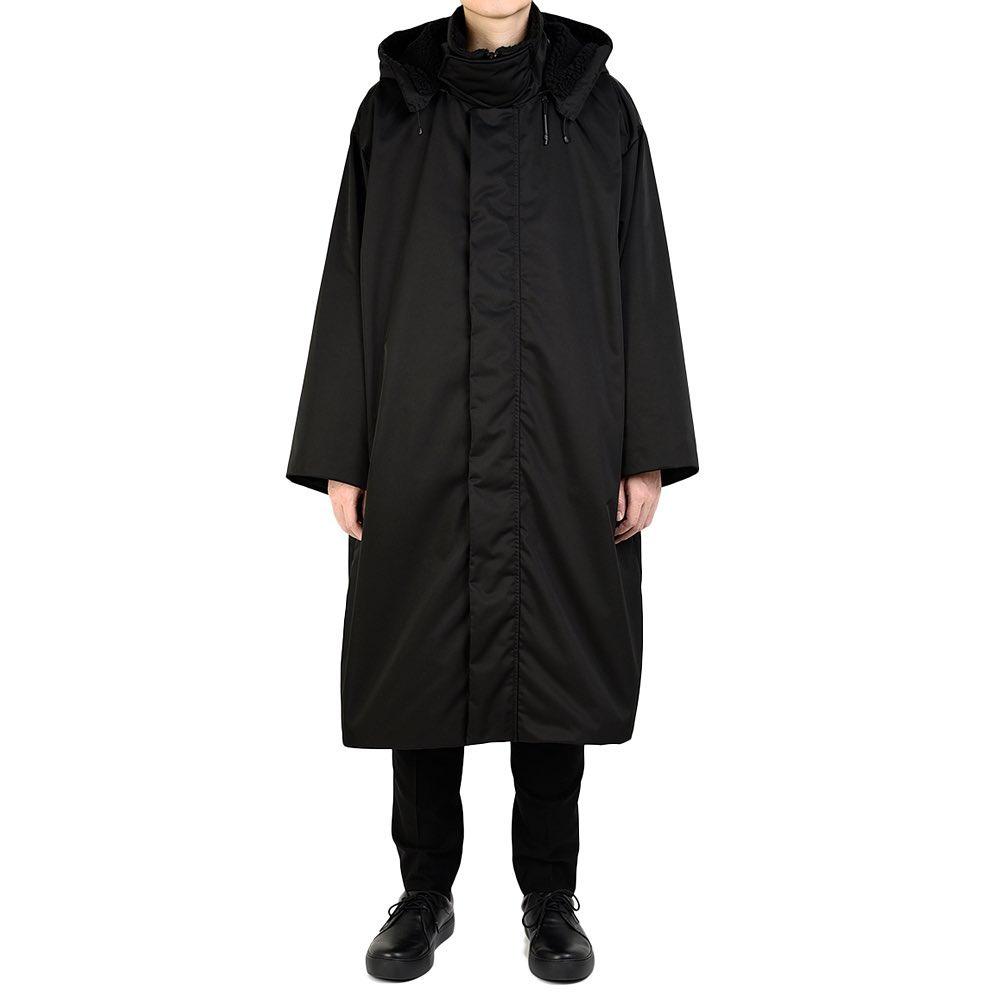 LAD MUSICIAN ラッドミュージシャン HOODED COAT フーデッドコート ブラック 2220-351