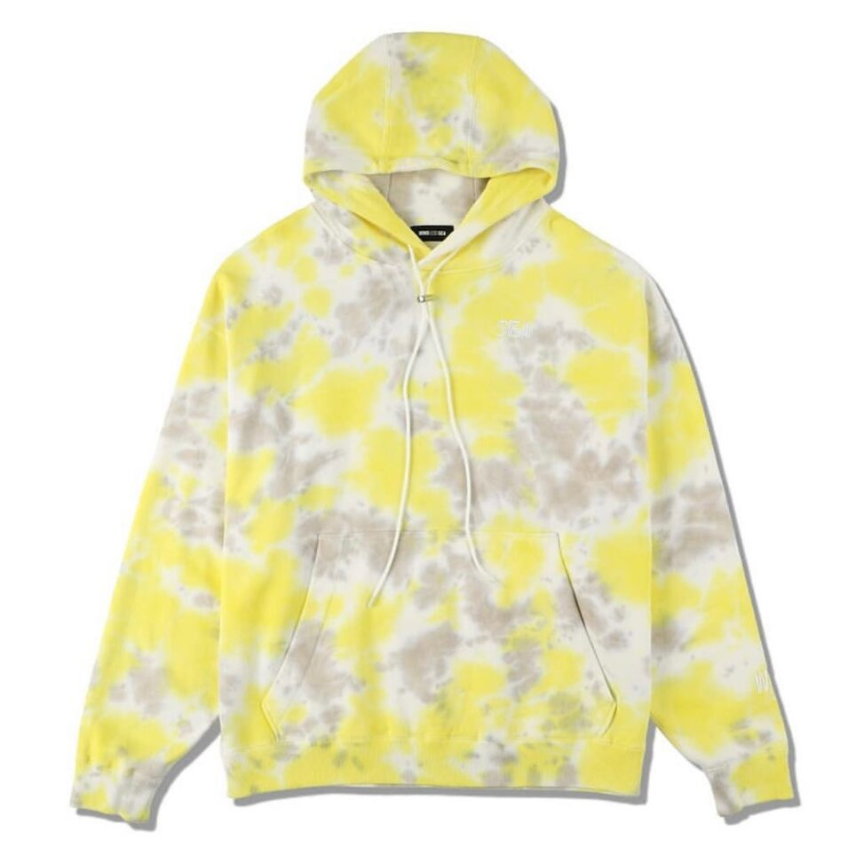 WIND AND SEA ウィンダンシー SEA (tie-dye) HOODIE パーカー イエローxグレー WDS-20A-TPS-10