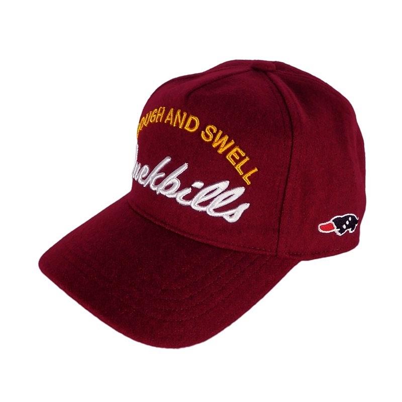 rough&swell ラフアンドスウェル FLANNEL B.B Cap 3 キャップ バーガンディ RSA-20203 / ラフ&スウェル ゴルフウェア