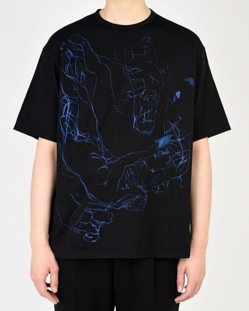 LAD MUSICIAN ラッドミュージシャン BIG T-SHIRT ビッグTシャツ ブラック 2121-805