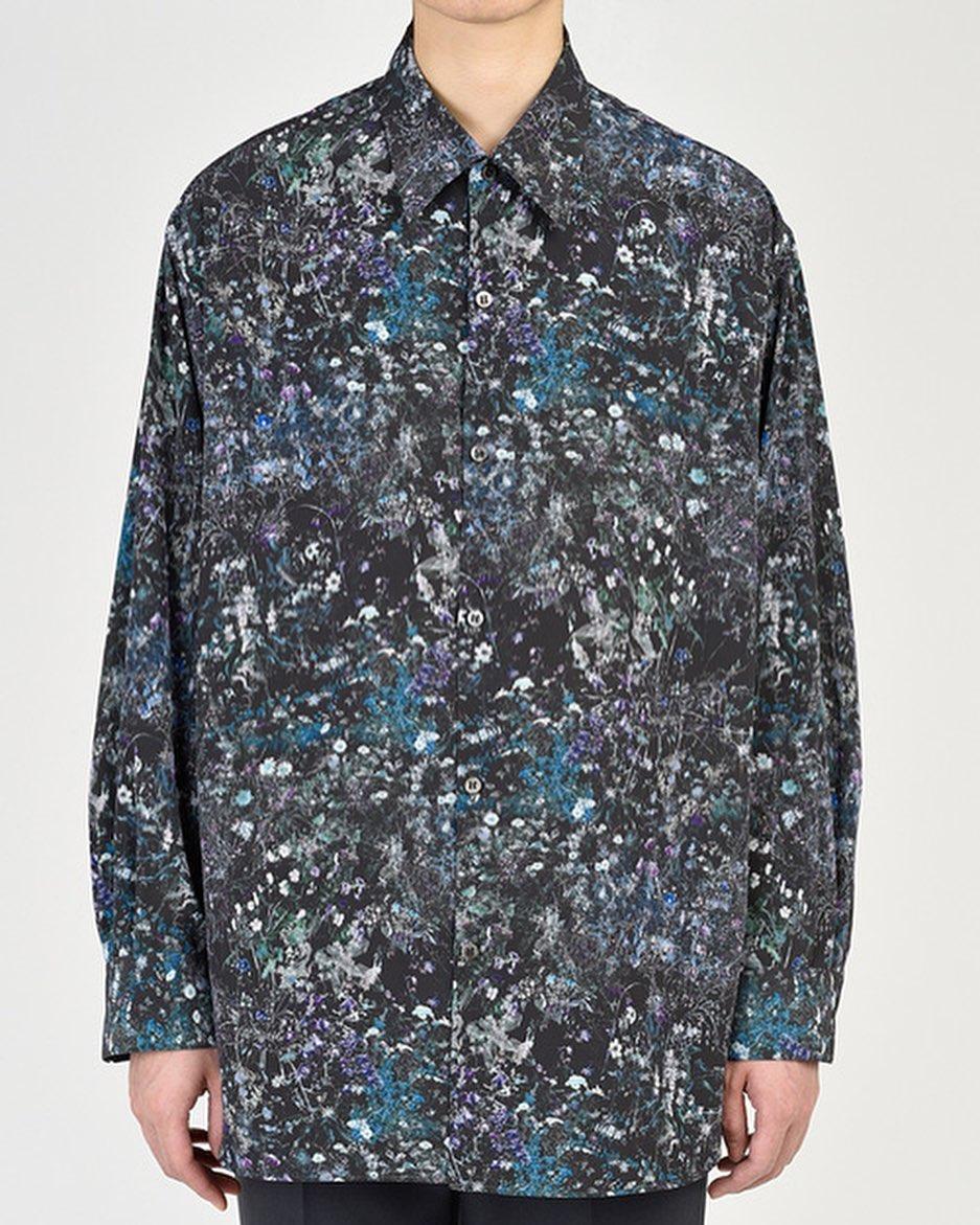LAD MUSICIAN ラッドミュージシャン BIG SHIRT ビッグシャツ グレーパープル 2121-143